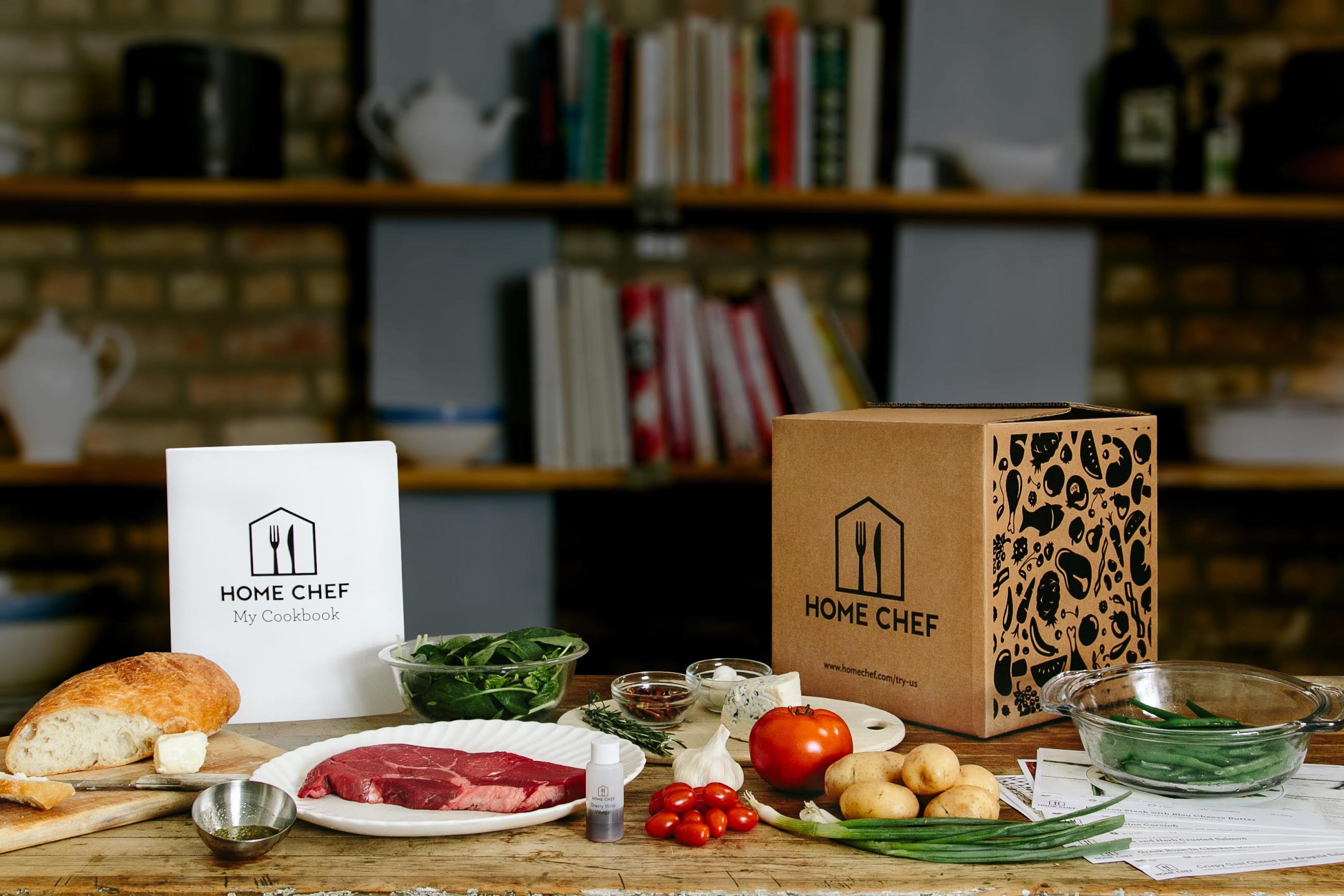 Home Chef is service that delivers pre-cooked meals to customers' doors.