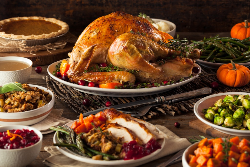 Turkey is the centerpiece, but there are many delicious holiday foods to enjoy.