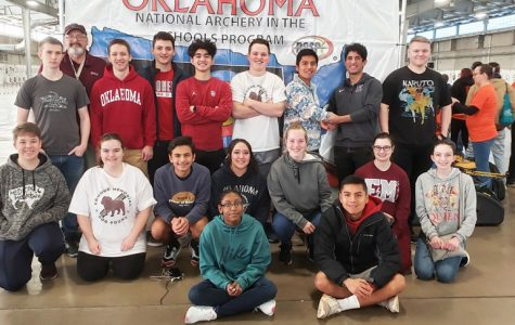 The Memorial archery team at The Central Regional Meet.