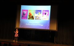 Author Marissa Meyer visited Edmond Memorial High School.