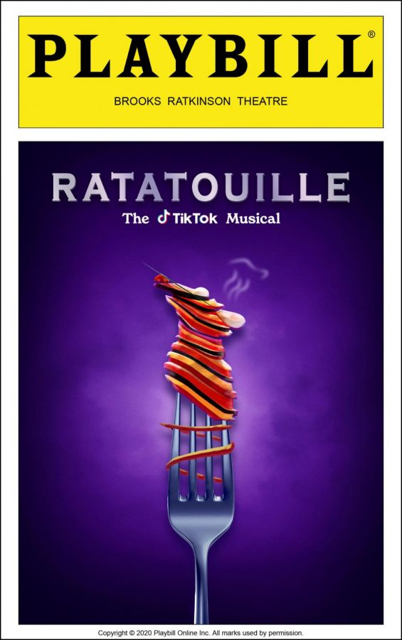 The Playbill for Ratatouille the Musical.