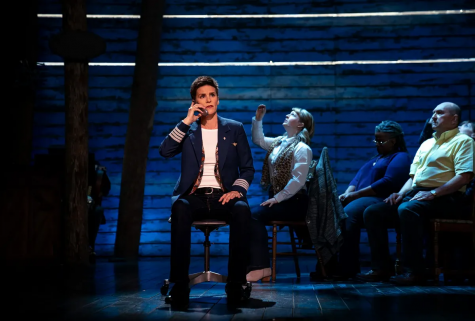 Come From Away had a fairly simple set, but utilized intricate lighting and props to really tell the story.